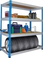 Металлические стеллажи складские (с нагрузкой до 300 кг на полку)