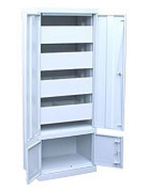 Шкаф металлический картотечный ШК-4-Д4 купить на выгодных условиях в Саратове