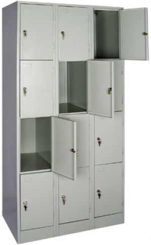 Шкаф металлический для сумок ШРМ - 312