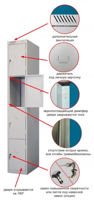 Шкаф металлический для сумок ШРС-14дс-300 купить на выгодных условиях в Саратове